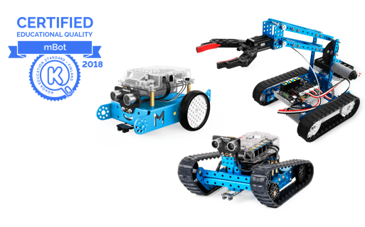 Makeblock's mBot Series Robots Accredited for Quality Education by Kokoa Education Standard