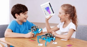 kids are learning coding through playing stem robotics