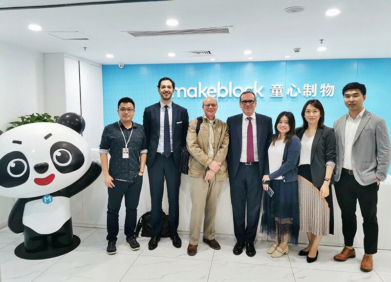IE University Vice-President, CUHK Dean Visited Makeblock's Headquarter in Shenzhen, Exchanging Innovations in Edtech